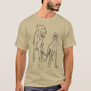 I Love Heart Lurchers Ladies Fitted T-Shirt