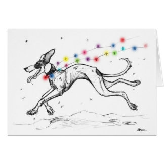 Lurcher Lights Card