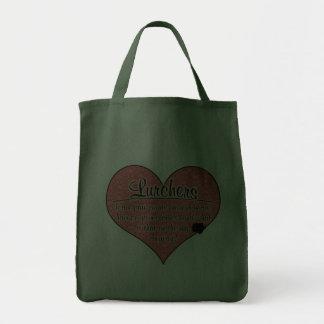 Lurcher Paw Prints Dog Humor Grocery Tote Bag