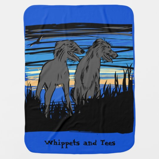 Lurchers overseeing the world baby blanket