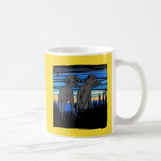 Lurchers overseeing the world coffee mug
