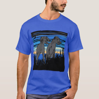 Lurchers overseeing the world T-Shirt
