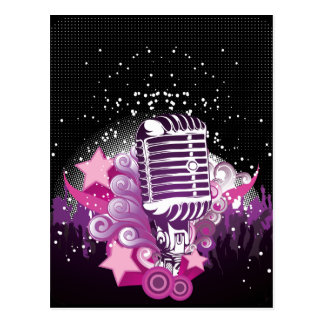 Lure of the Microphone Postcard