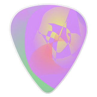 Lured into Space White Delrin Guitar Pick