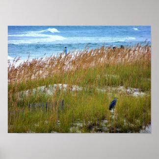 Lurking Heron Poster