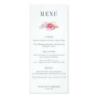 Luscious Botanicals Floral Wedding Menu Card