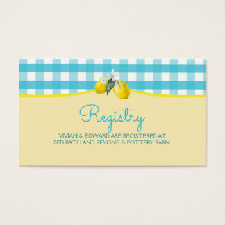 Luscious Lemon Wedding Registry Card