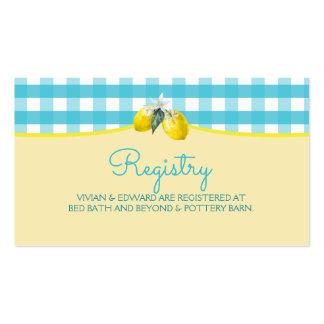 Luscious Lemon Wedding Registry Card Pack Of Standard Business Cards