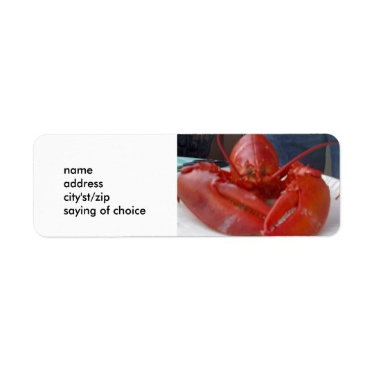 LUSCIOUS LOBSTER LABELS