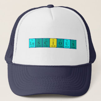 Luscious periodic table word hat