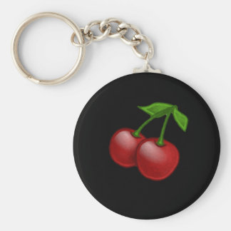 Luscious Retro Cherries Key Ring
