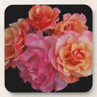 Luscious roses coasters