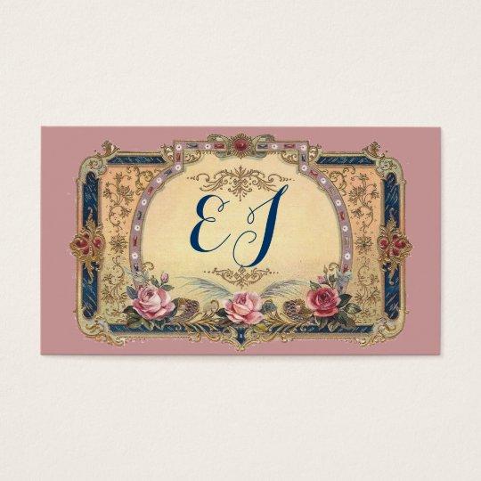 Luscious Victorian Antique Store Monogram Card