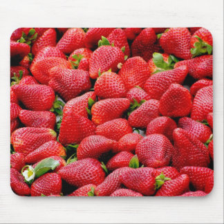 Luscious Whole Strawberries Mouse Mat