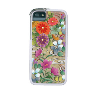 Lush autumn flowers bright Japanese pattern Case For iPhone 5/5S