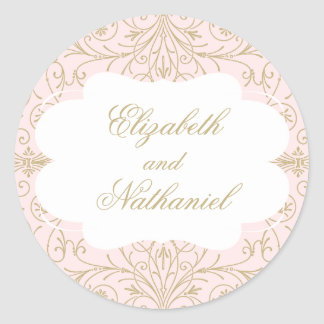 Lush Flourish Wedding Sticker blush/gold