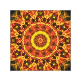 Lush Glow  kaleidoscope Canvas Print
