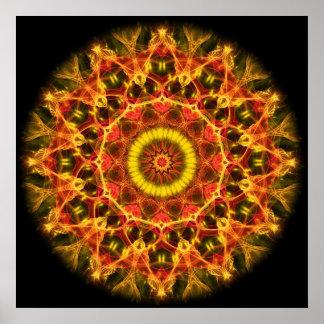 Lush Glow  kaleidoscope Poster