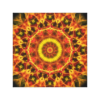 Lush Glow  kaleidoscope Stretched Canvas Print