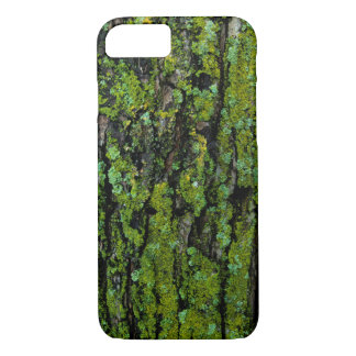 Lush, green, and mossy tree trunk iPhone 7 case