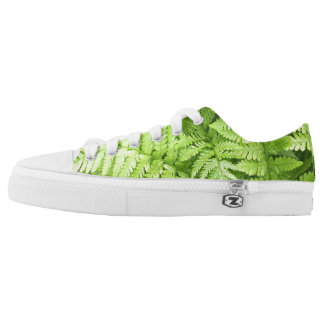 Lush Green Fern Fronds Low Tops