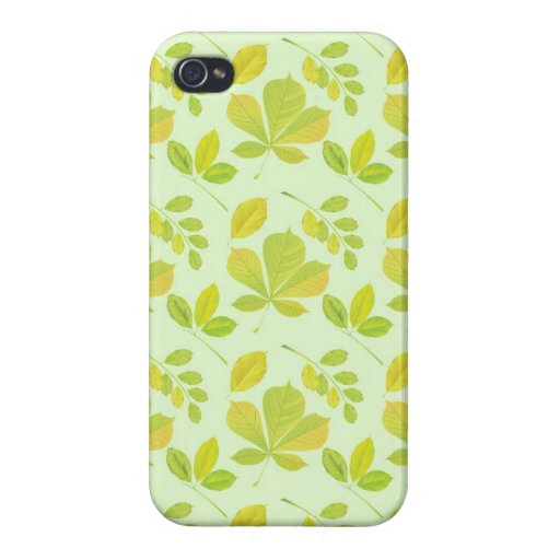 Lush Green Leaves Pattern Cases For iPhone 4