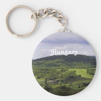 Lush Hungary Landscape Key Ring