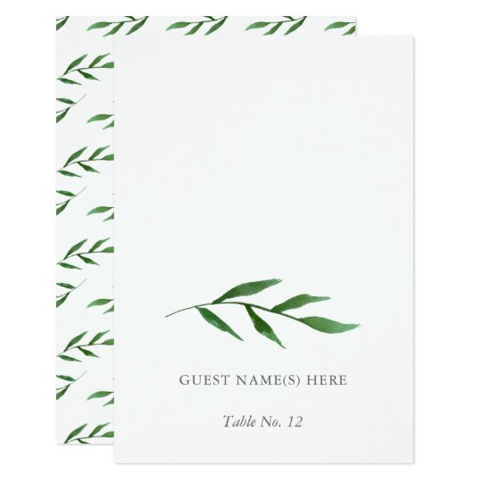 Lush Leaves Elegant Wedding Escort Card