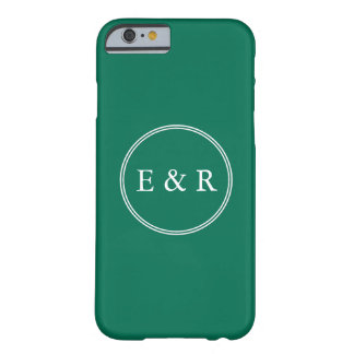 Lush Meadow Green with White Wedding Detail Barely There iPhone 6 Case