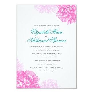 "Lush Peonies Wedding Invitation 5"" X 7"" Invitation Card"