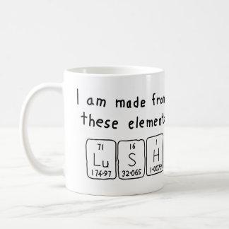 Lush periodic table word mug