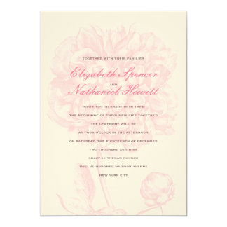 Lush Pink Peony Wedding Invitation
