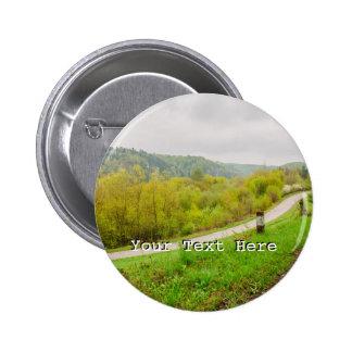 Lush Spring Landscape, Hills In Ojcow, Poland 6 Cm Round Badge