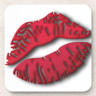 Lushious Lips Drink Coasters