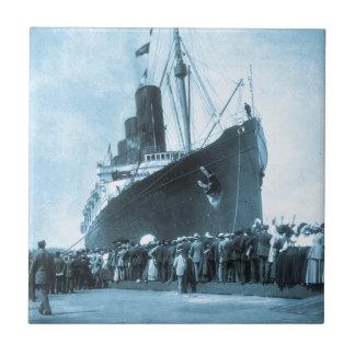 Lusitania Arrives in New York Vintage Tiles