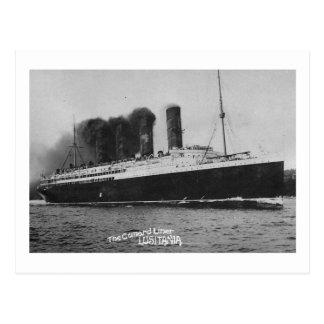 Lusitania, Cunard Lines Vintage Postcard