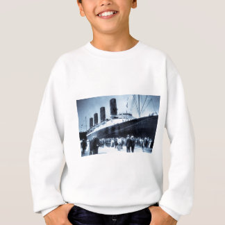 Lusitania Docked in New York City Blue Tone Sweatshirt