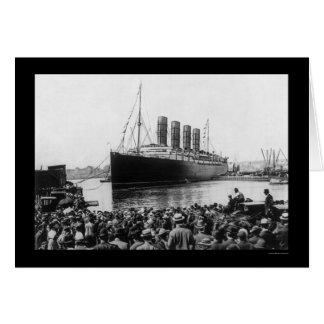 Lusitania Spectators 1907 Card