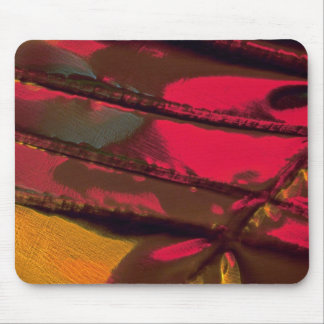 Lustrous red with gold mousepad
