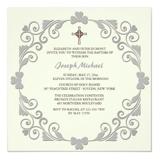 Lustrous Square Religious Invitation