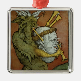 Luther as the Devil's Bagpipes, c.1535 Christmas Ornament