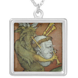 Luther as the Devil's Bagpipes, c.1535 Silver Plated Necklace