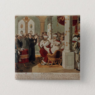Luther at the Diet of Worms 15 Cm Square Badge
