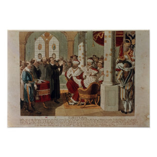 Luther at the Diet of Worms Poster