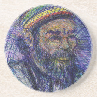 Luther Hampton Self Portrait Beverage Coasters