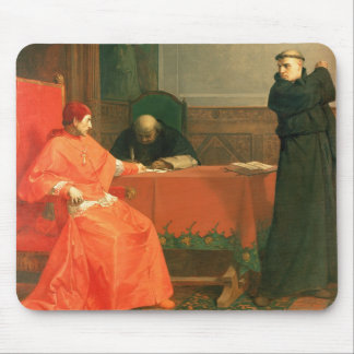 Luther in front of Cardinal Cajetan Mouse Mat