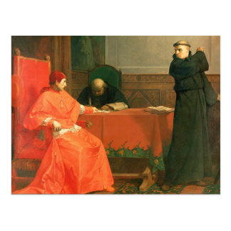 Luther in front of Cardinal Cajetan Postcard