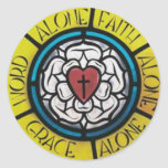Luther Rose Round Stickers