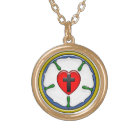 Luther Rose Small Round Necklace