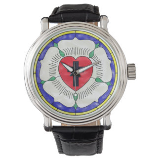 Luther Seal Stained Glass Vintage Strap Mens Watch